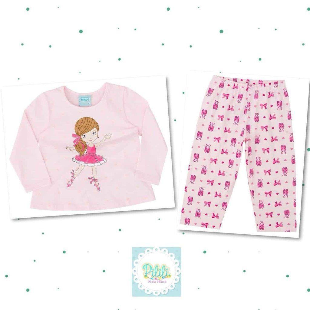 Pijama Feminino Kyly 100% Algodão Bailarina