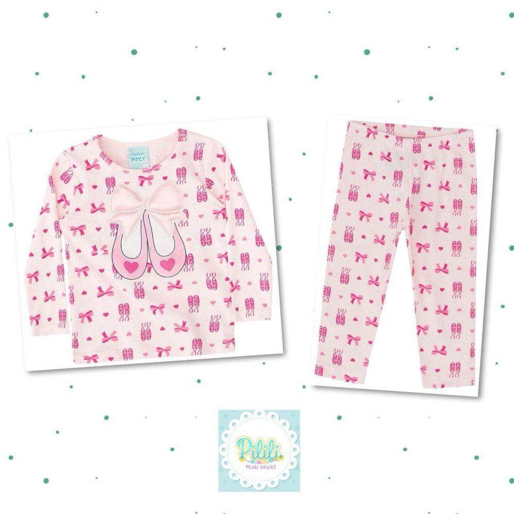 Pijama Feminino Kyly 100% Algodão Sapatilha