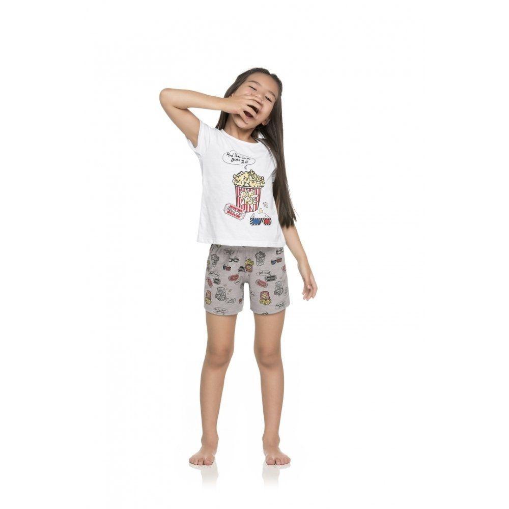 Pijama Infantil Feminino Quimby Blusa e Shorts em 100% Algodão - Linha Família