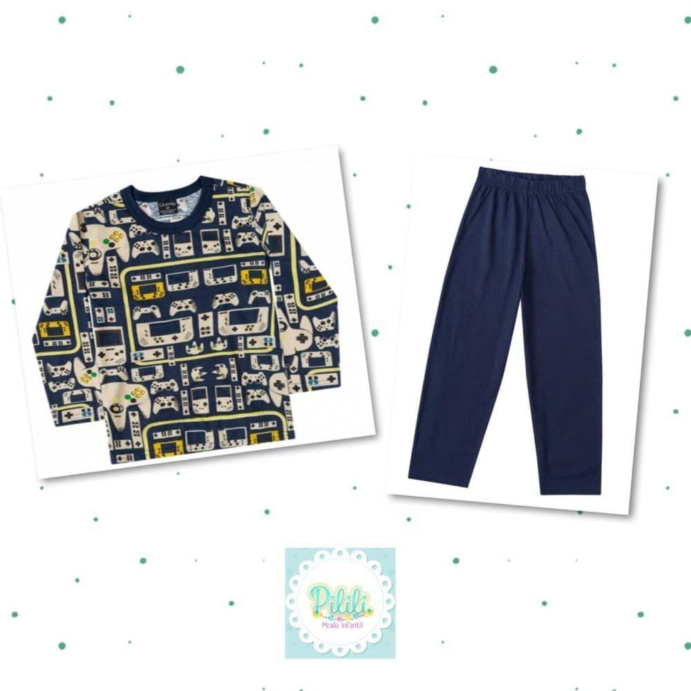 Pijama Infantil Quimby 100% Algoão Pai e Filho