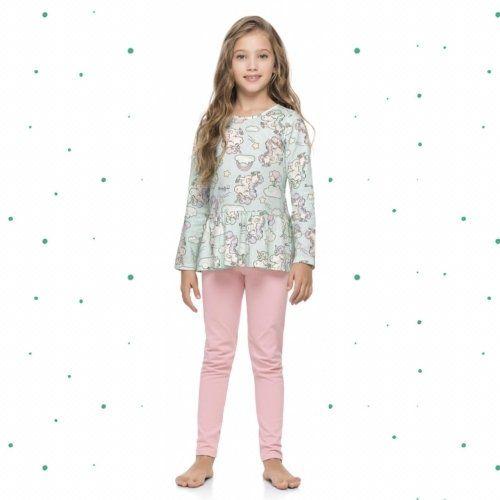 Pijama Infantil Quimby Manga Longa 100% Algodão