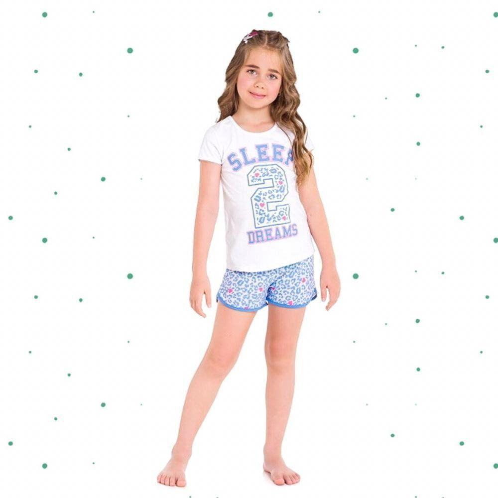 Pijama Infanto Juvenil Feminino Kyly em Algodão