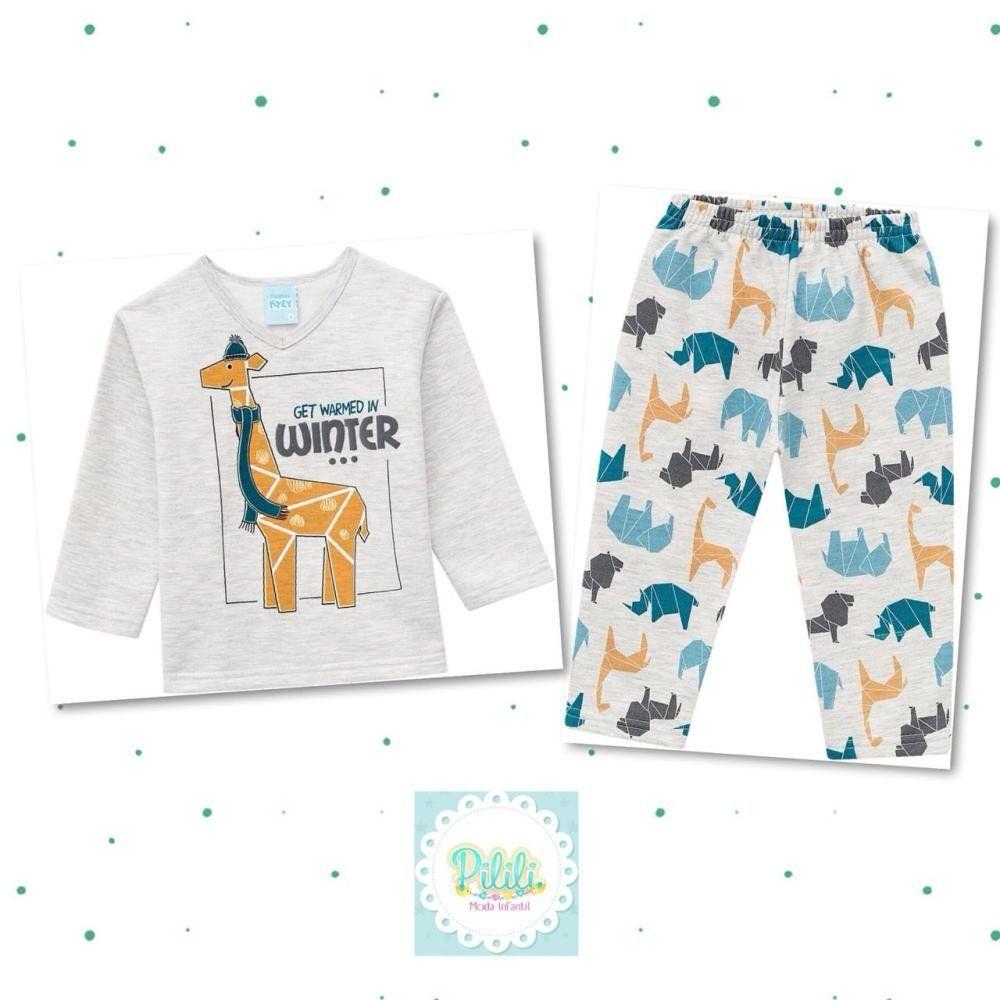 Pijama Masculino Kyly em Moletom Flanelado