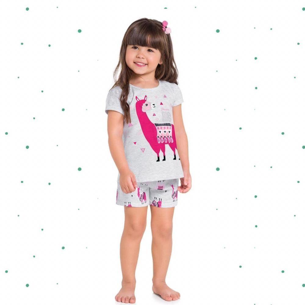 Pijama Menina Kyly em 100% Algodão com Estampa que Brilha no Escuro