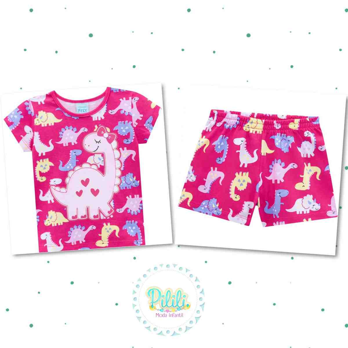 Pijama Menina Kyly em Algodão com Estampa que Brilha no Escuro