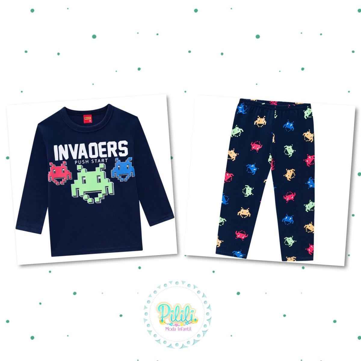 Pijama Menino Kyly Camiseta e Calça em Algodão