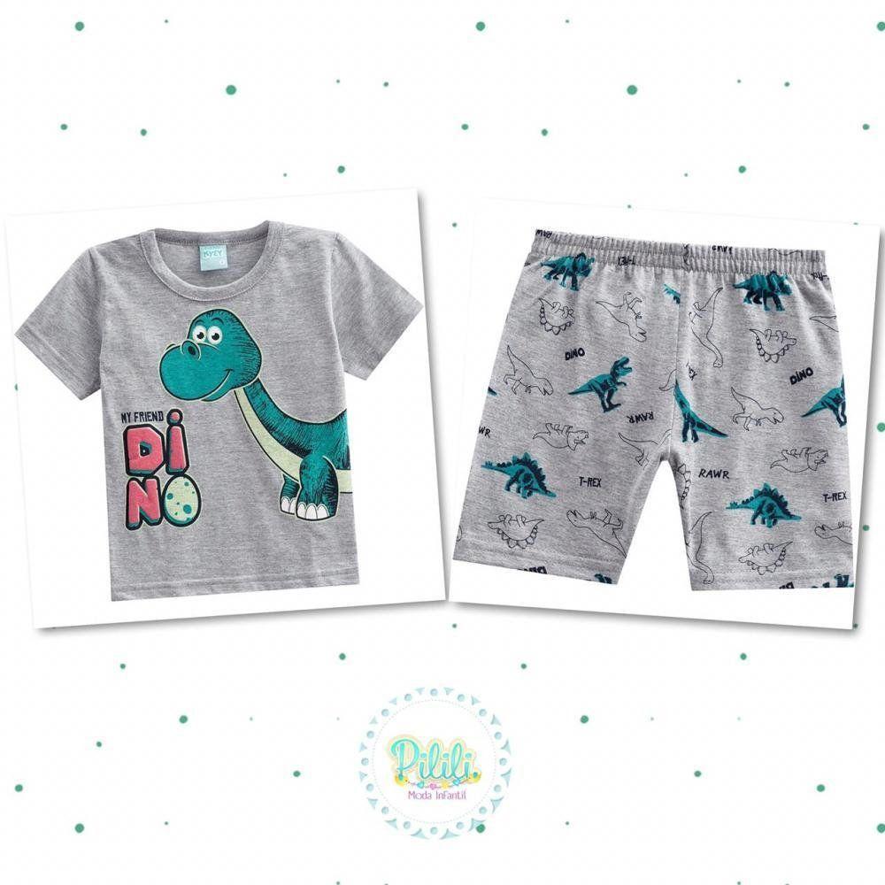 Pijama Menino Kyly com Estampa que Brilha no Escuro