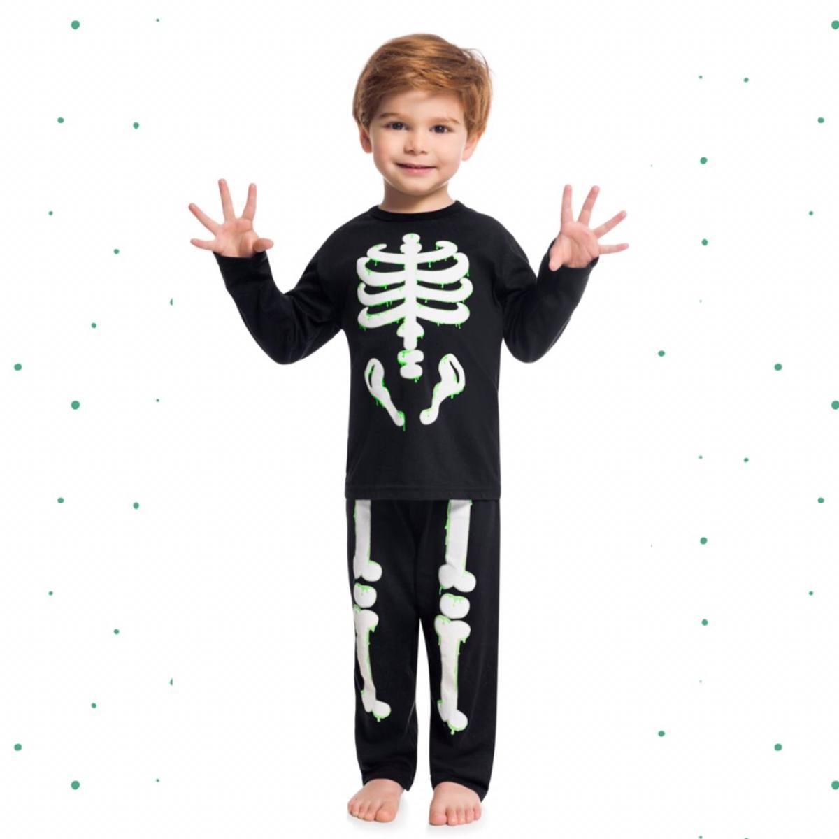 Pijama Menino Kyly em 100% Algodão Brilha no Escuro
