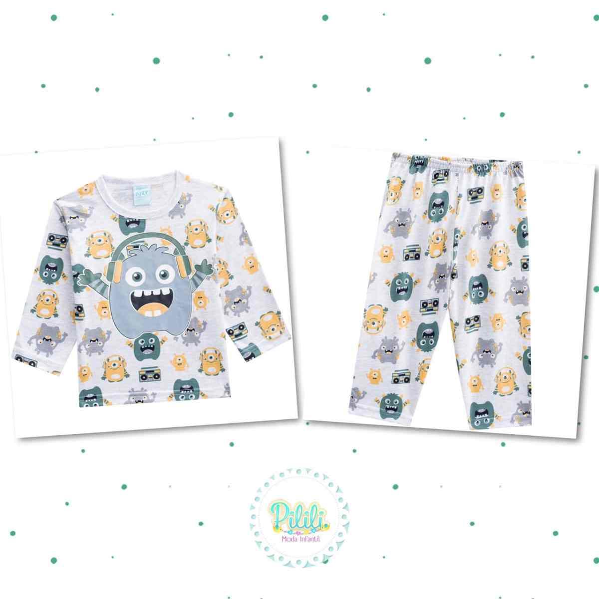 Pijama Menino Kyly em Algodão Brilha no Escuro