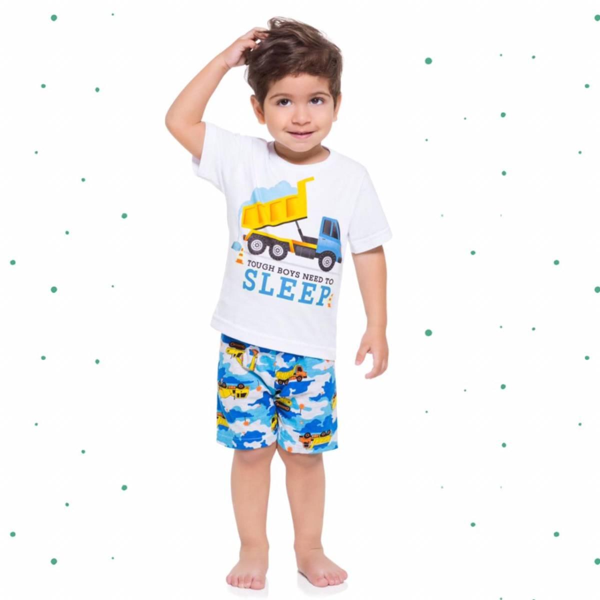 Pijama Menino Kyly em Algodão Estampado Brilha no Escuro
