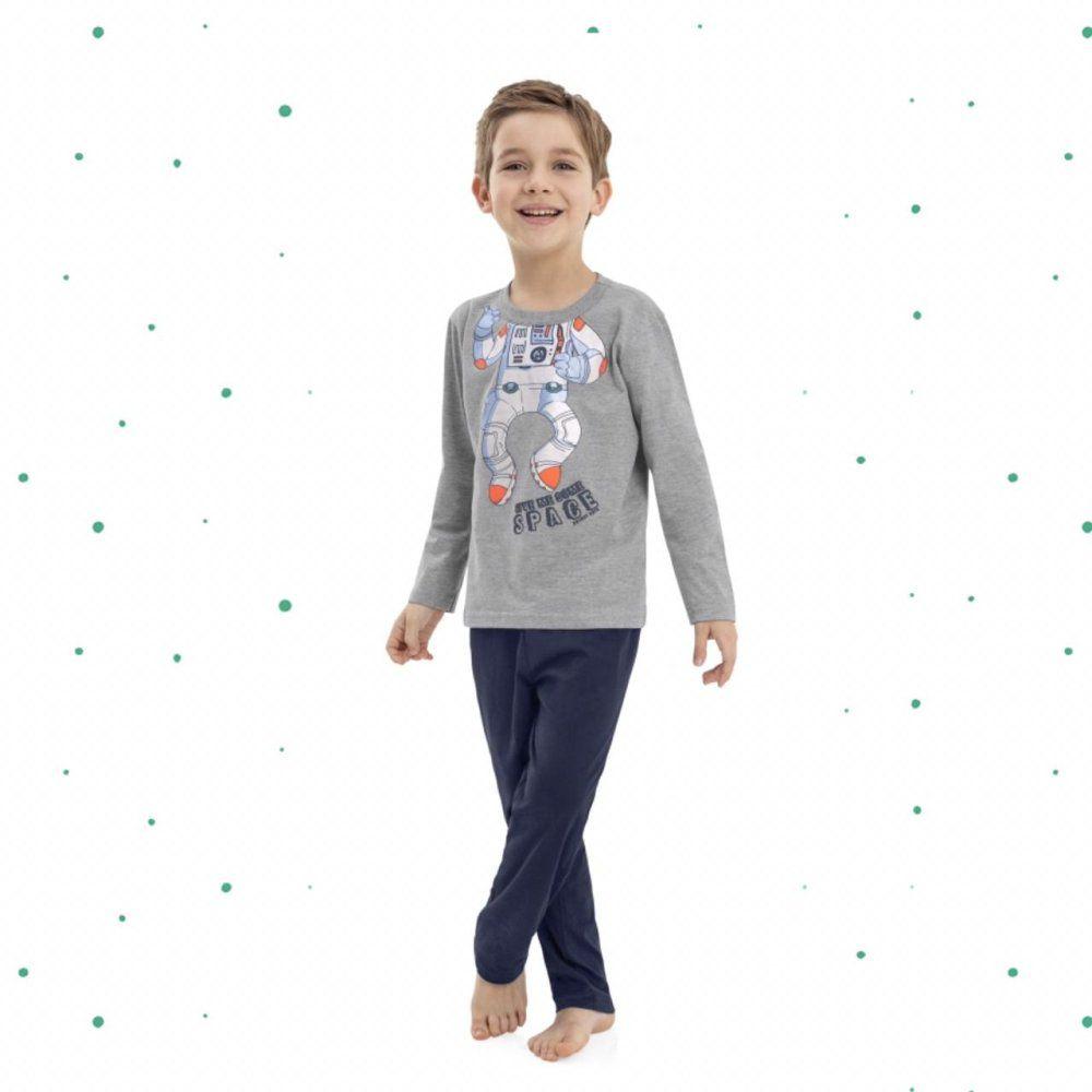 Pijama Menino Quimby Blusa e Calça em Algodão