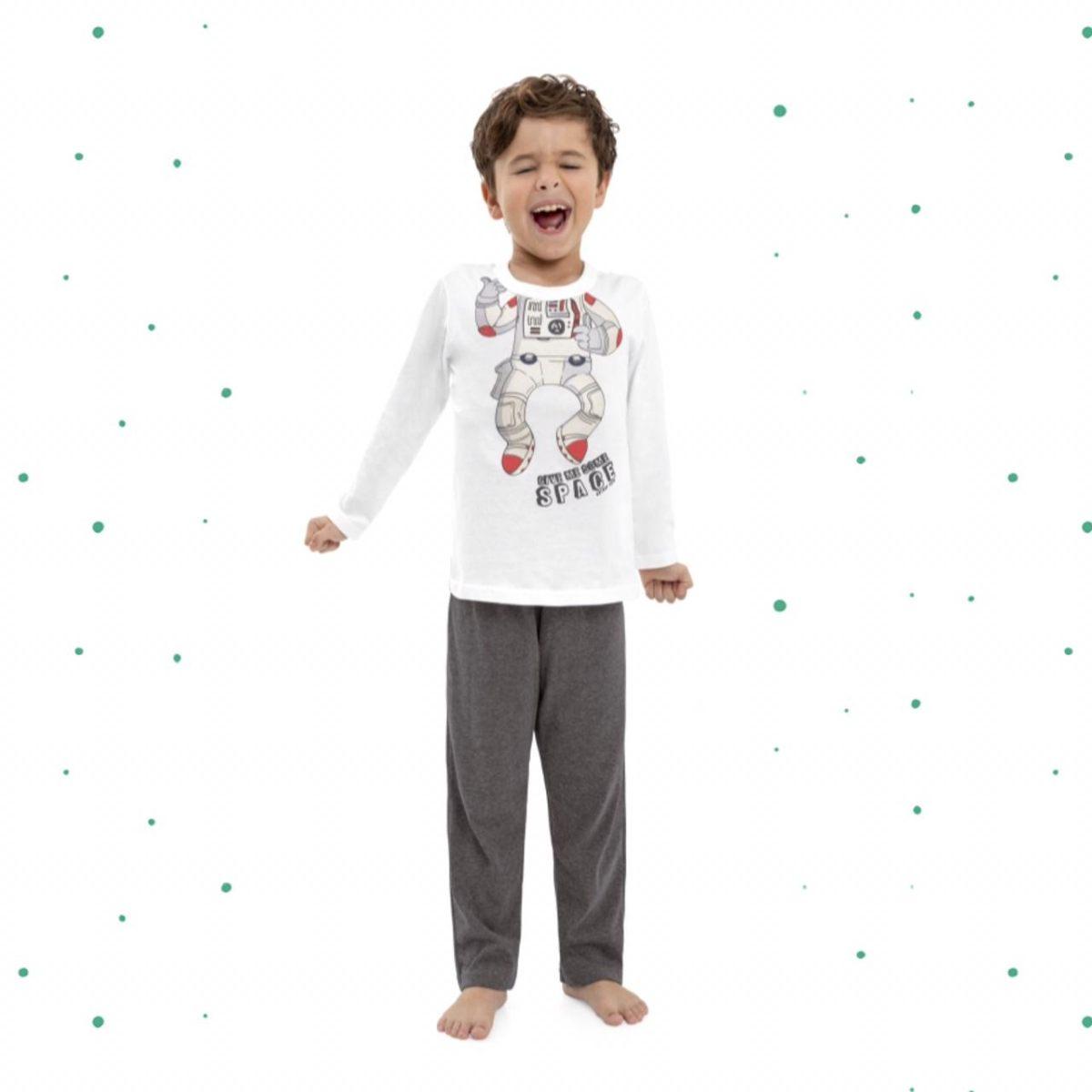 Pijama Menino Quimby em 100% Algdodão Estampado