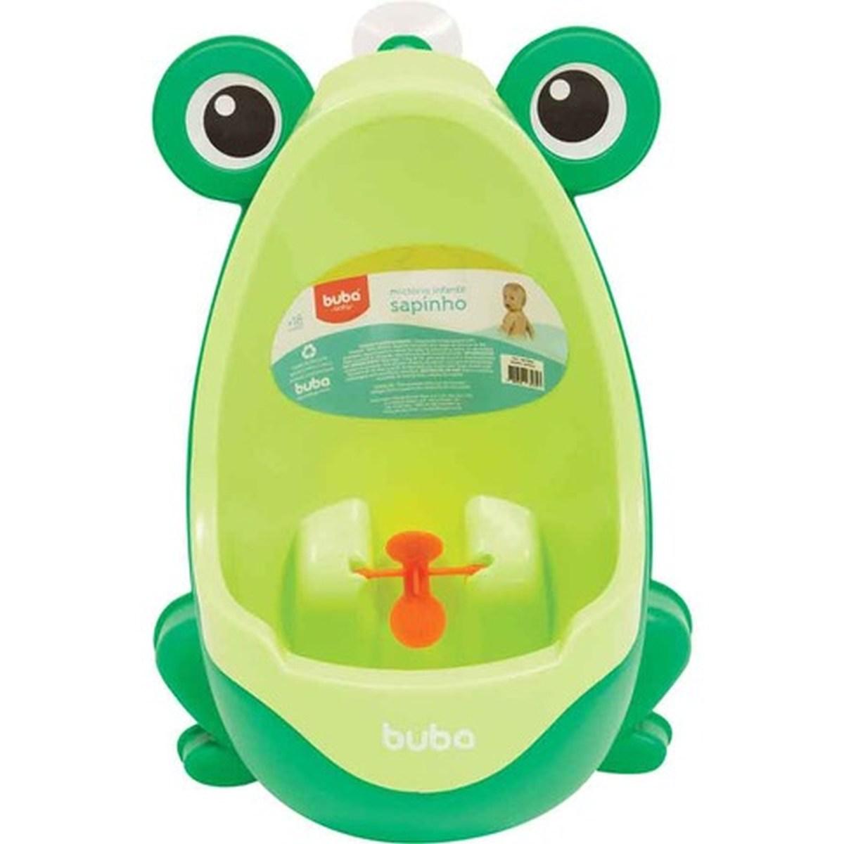 Pinico Mictorio Infantil Com Ventosa Verde Sapinho Baby