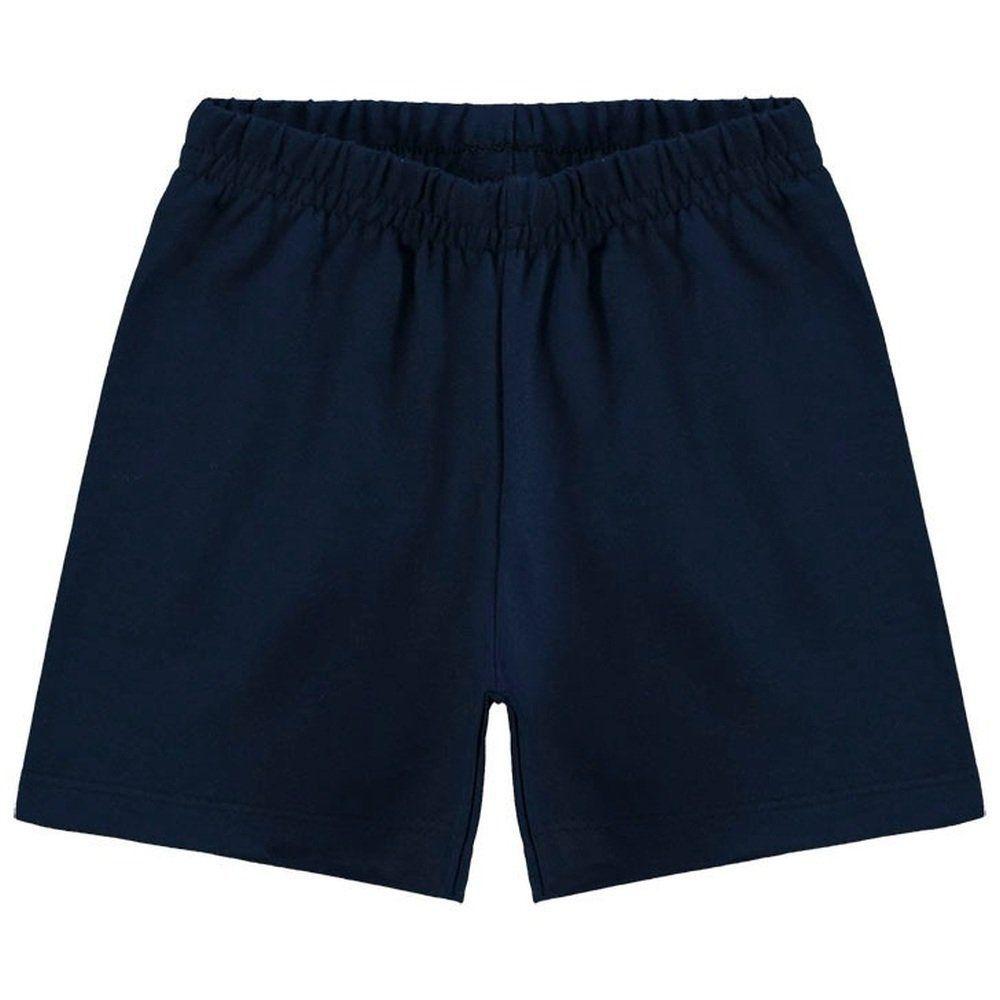 Short Kyly Menina em Cotton na cor Azul Marinho