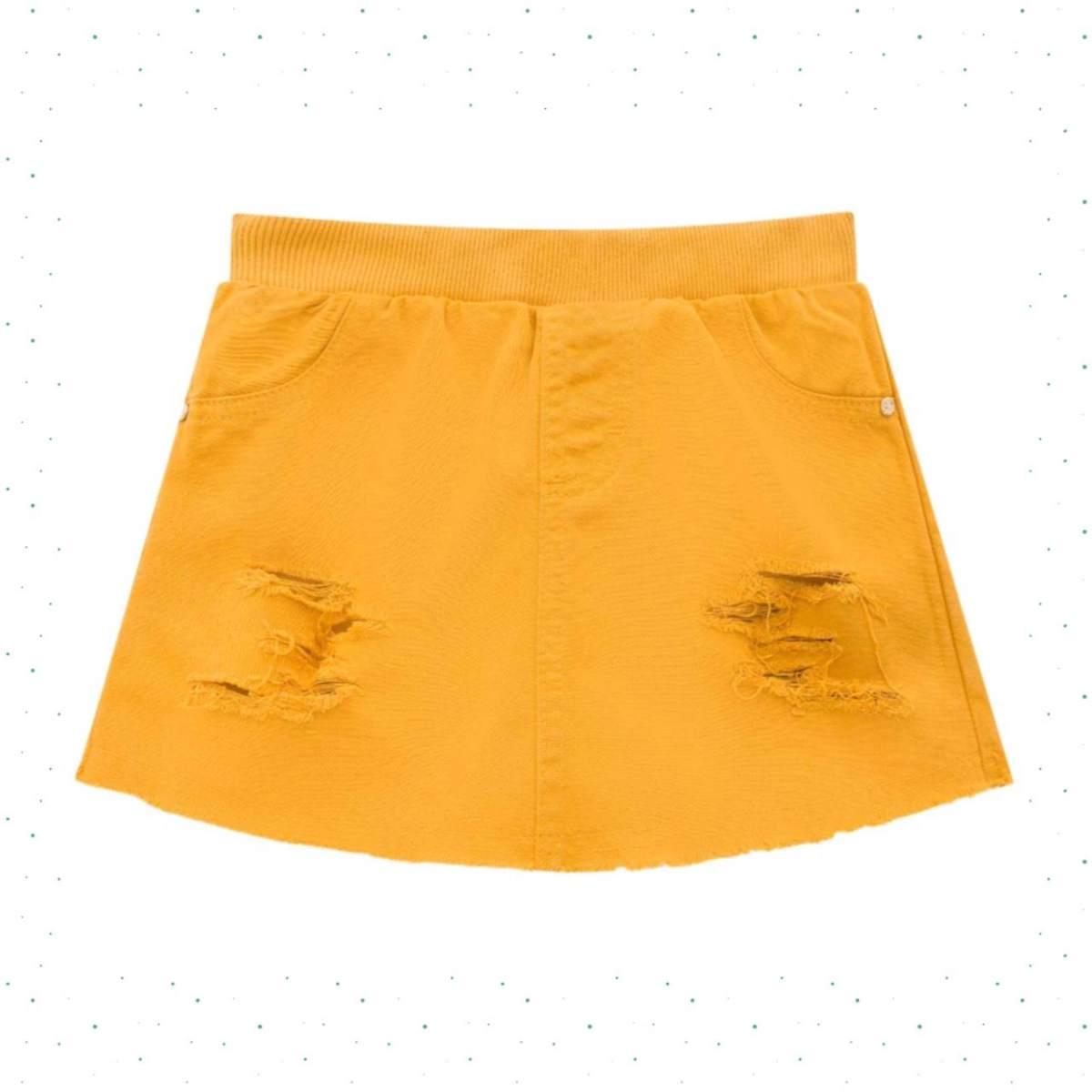 Short-saia em Sarja Menina - Kukiê