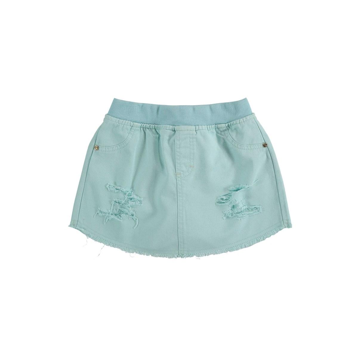 Shorts-Saia Kukiê em Sarja - Azul