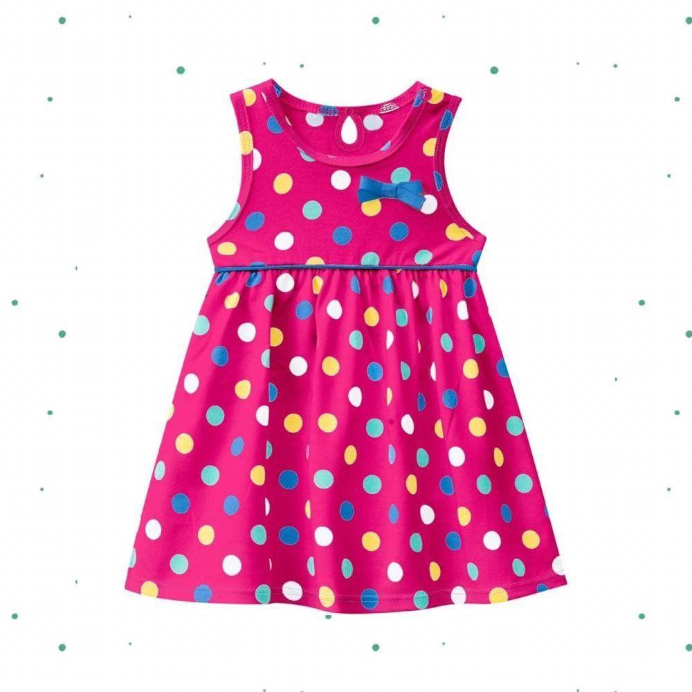 Vestido Bebê Menina em Cotton com Body Interno