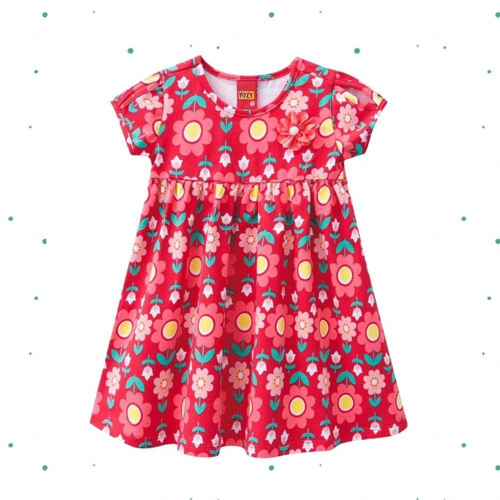 Vestido Bebê Menina Kyly em Cotton Estampado