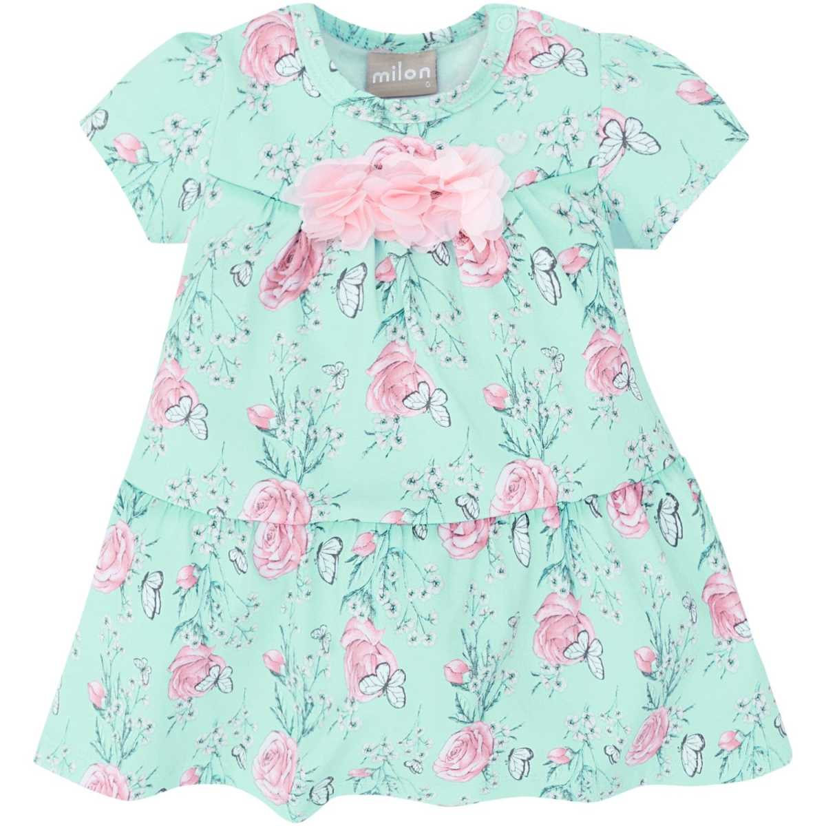 Vestido Bebê Menina Milon Cotton com Body interno