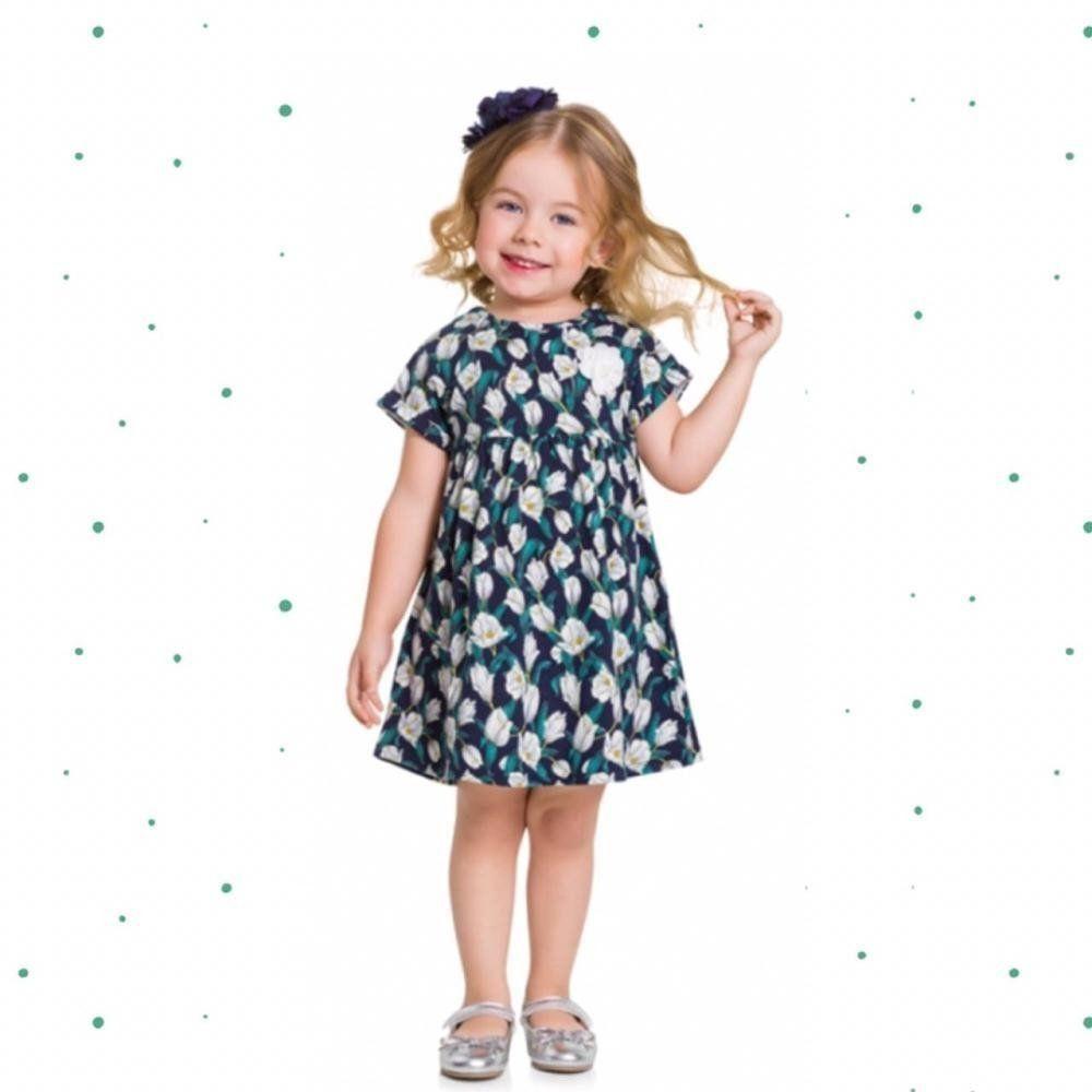 Vestido Bebê Menina Milon em Cotton Estampado