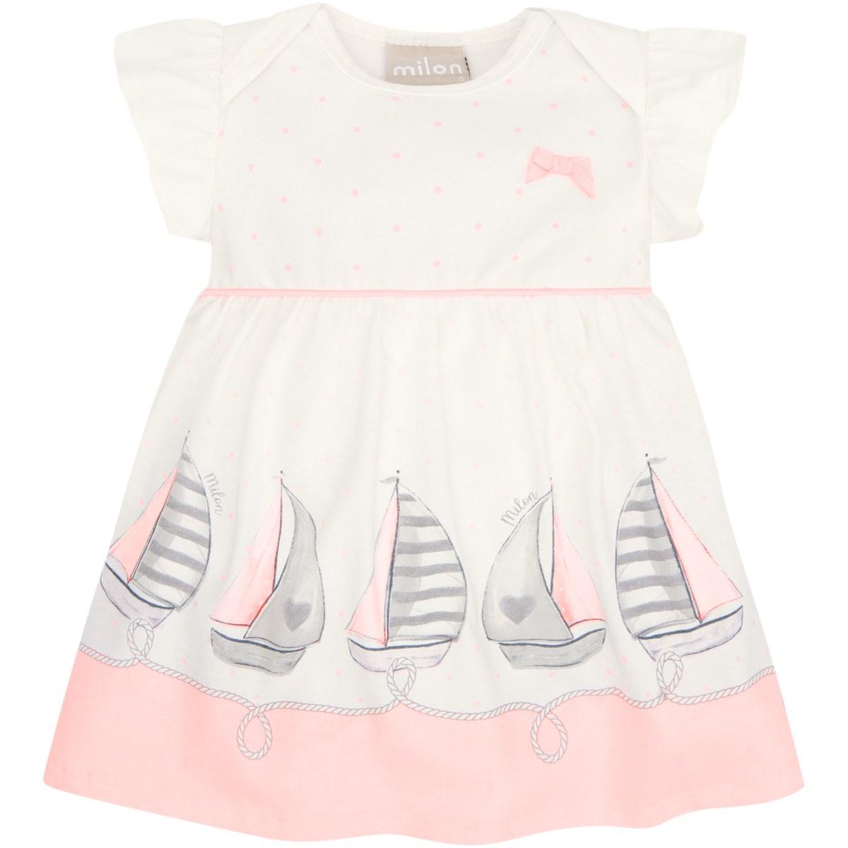 Vestido Bebê Menina Milon em Cotton - Off White