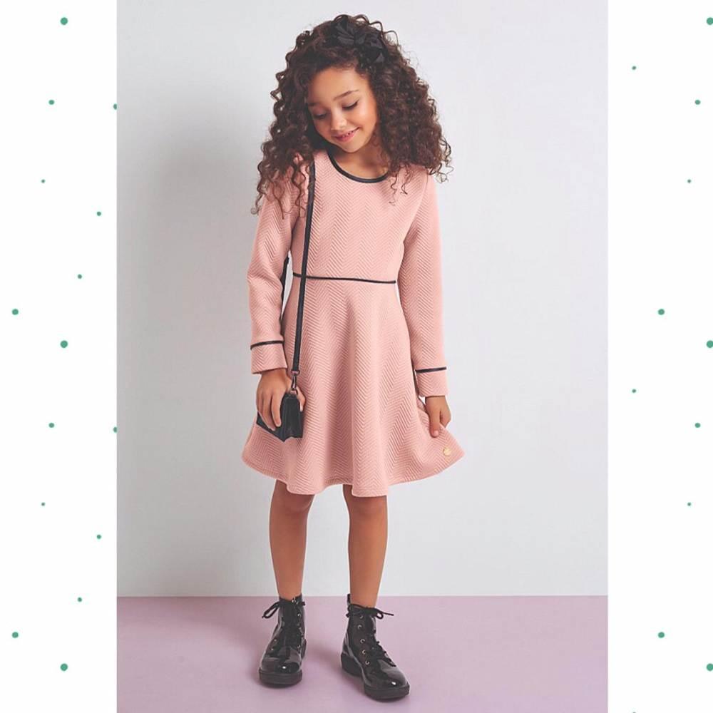 Vestido Infantil Cativa Manga Longa
