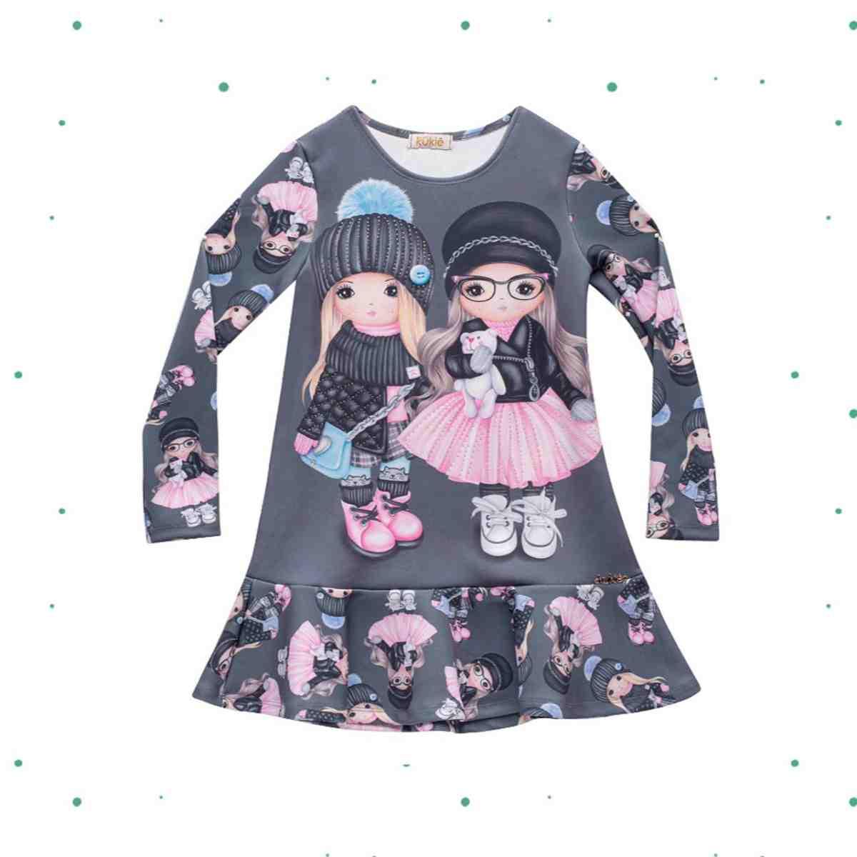 Vestido Infantil Kukiê em Fly Tech