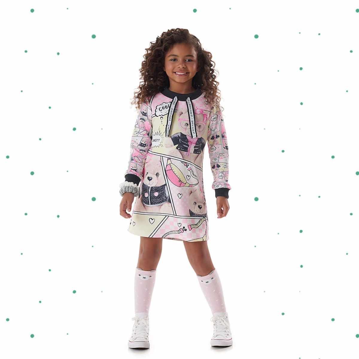 Vestido Infantil Kukiê em Molecotton