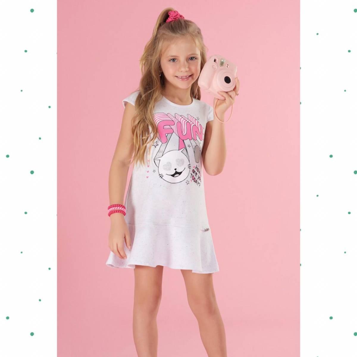 Vestido Infantil Kukiê em Moletom Botonê