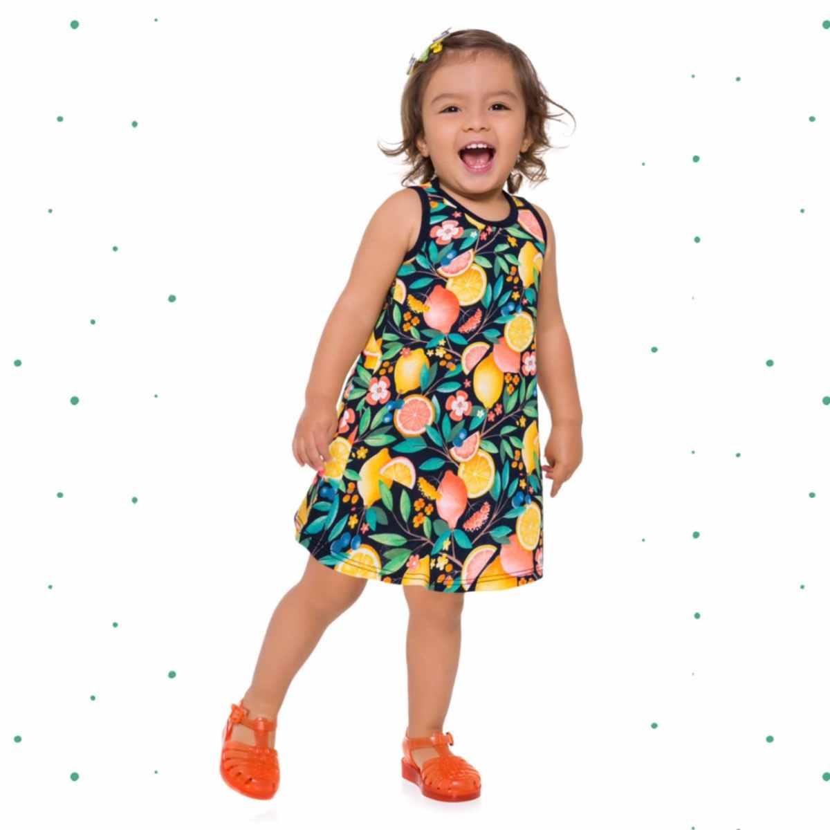 Vestido Infantil Kyly em Algodão