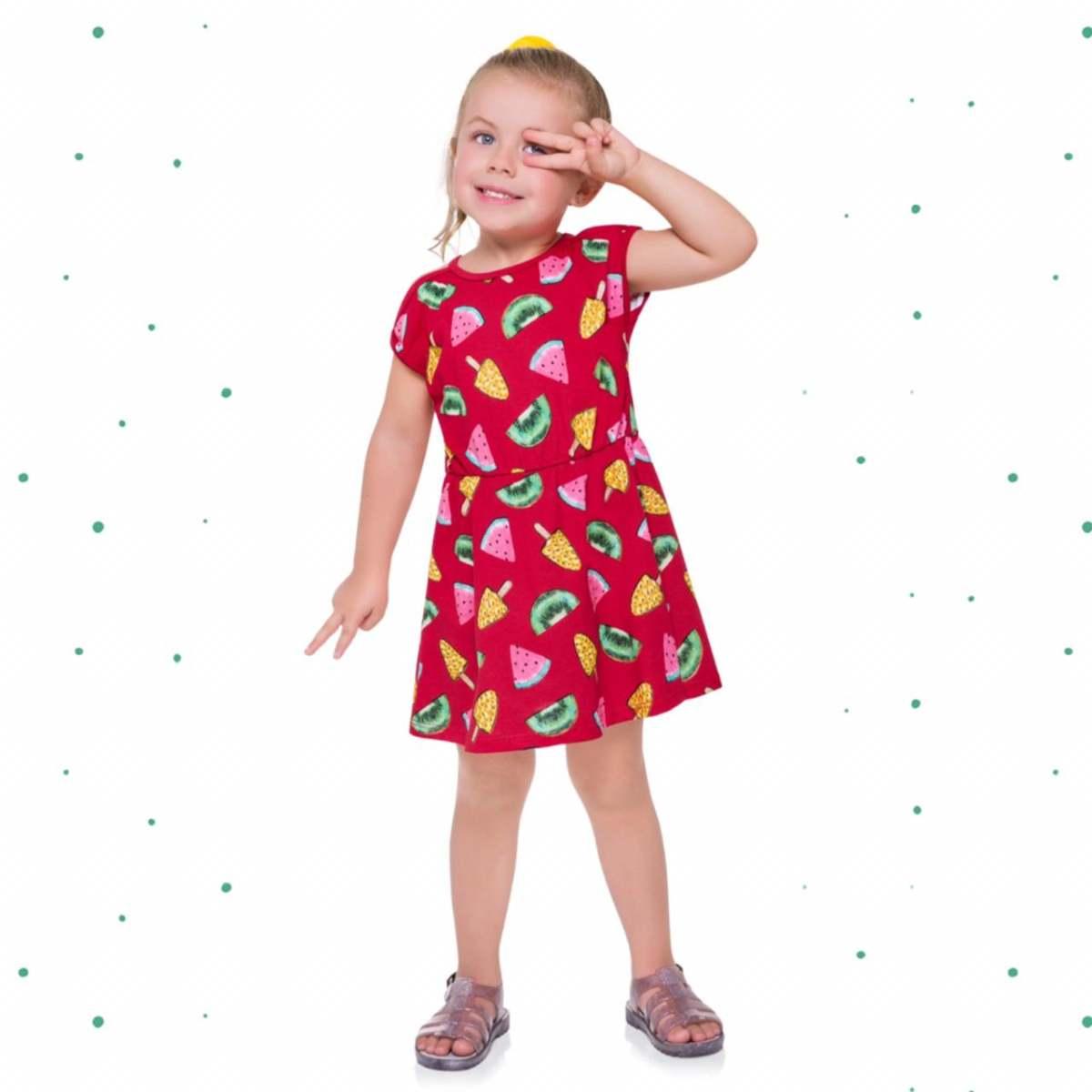 Vestido Infantil Kyly em Algodão Estampado