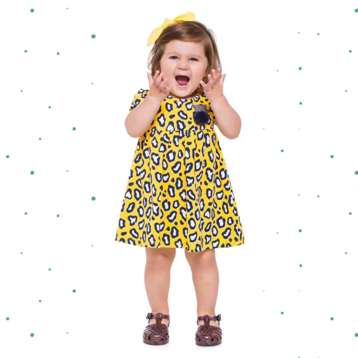 Vestido Infantil Kyly em Cotton 4 Estampado