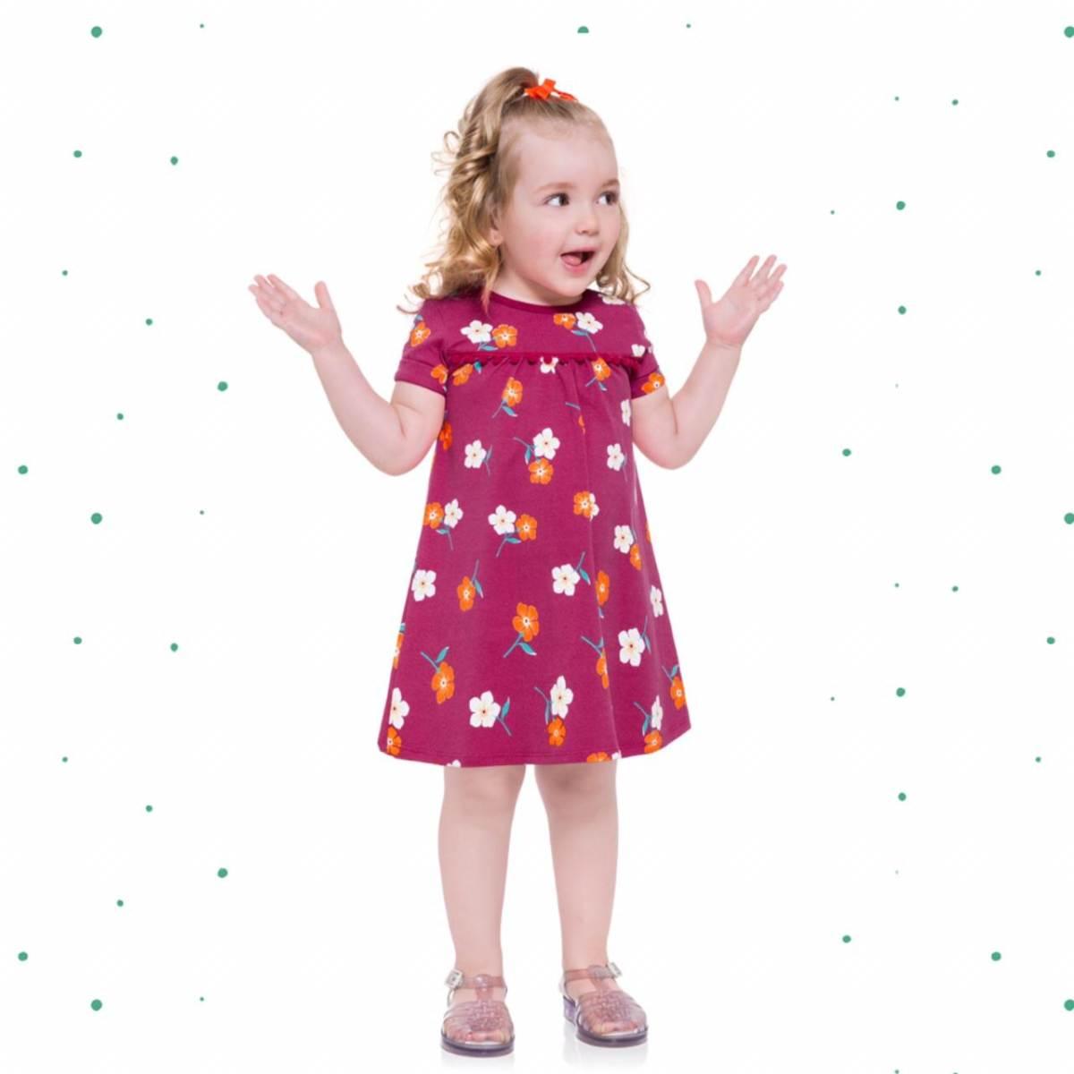 Vestido Infantil Kyly em Cotton Estampado