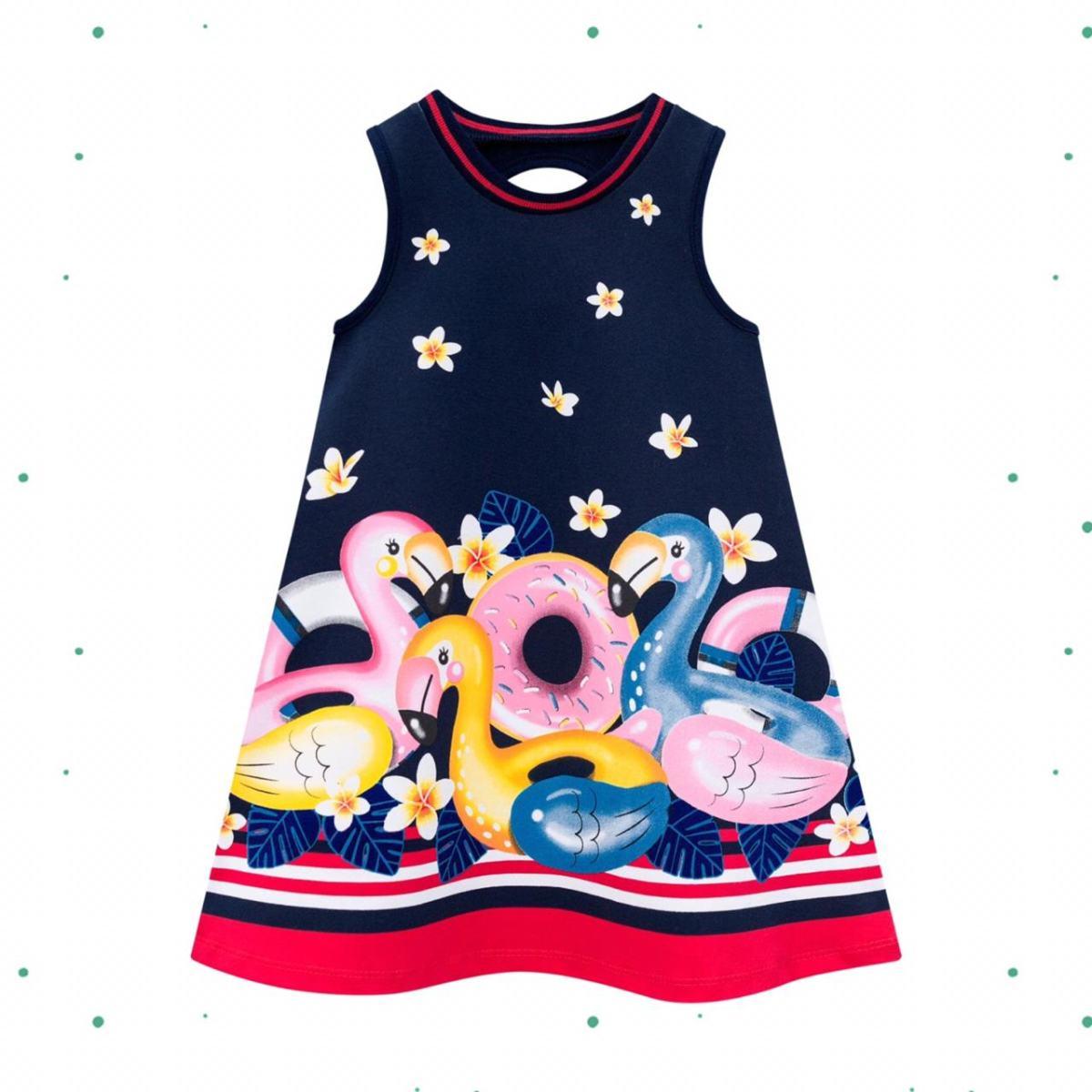 Vestido Infantil Kyly em Cotton na cor Marinho
