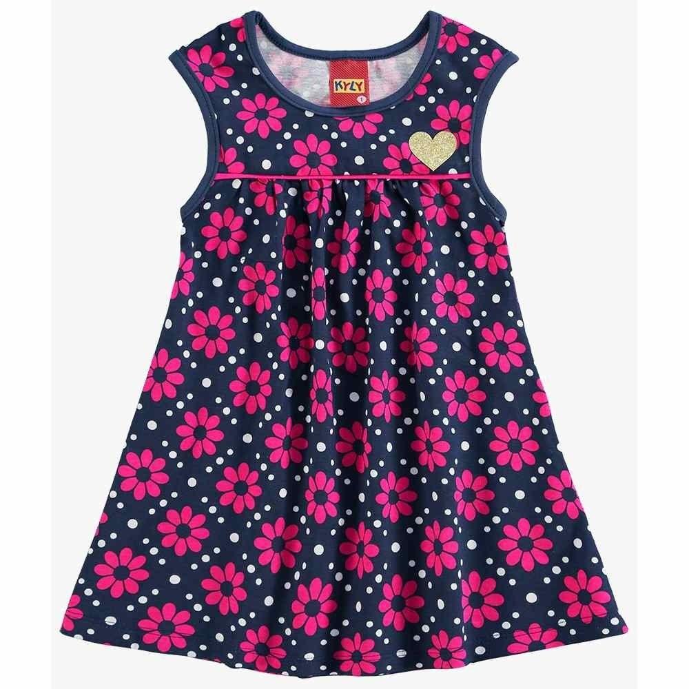 Vestido Infantil Kyly Menina 100% Algodão