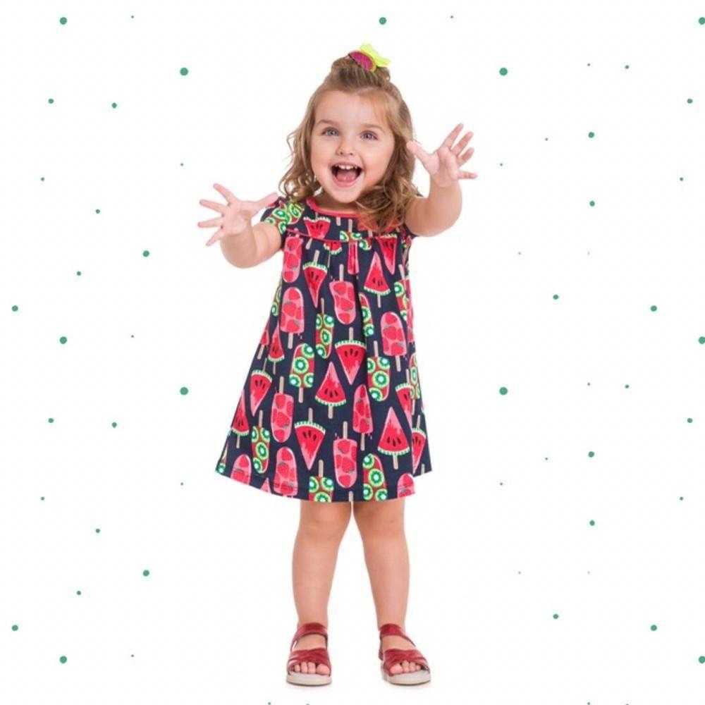 Vestido Infantil Menina Kyly em Algodão Estampado