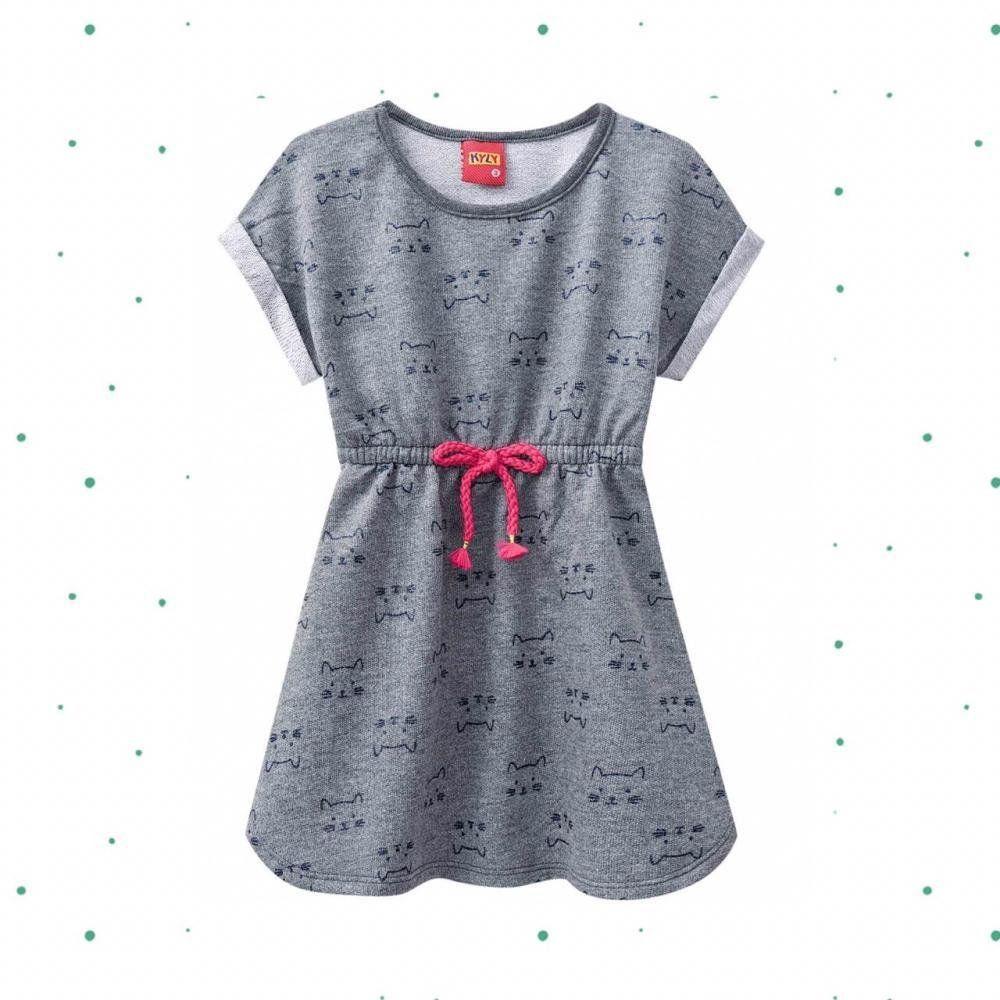Vestido Infantil Menina Kyly em Moletinho