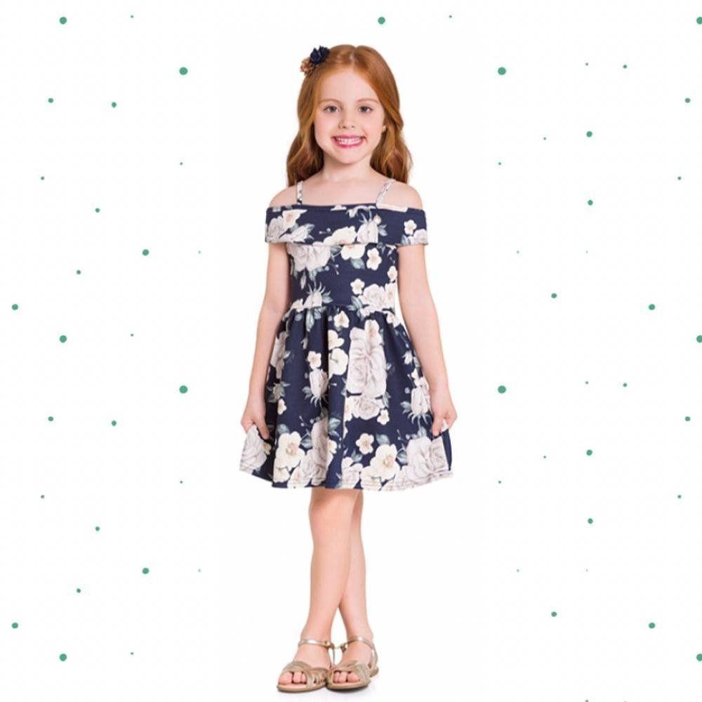 Vestido Infantil Milon com alças em Neoprene