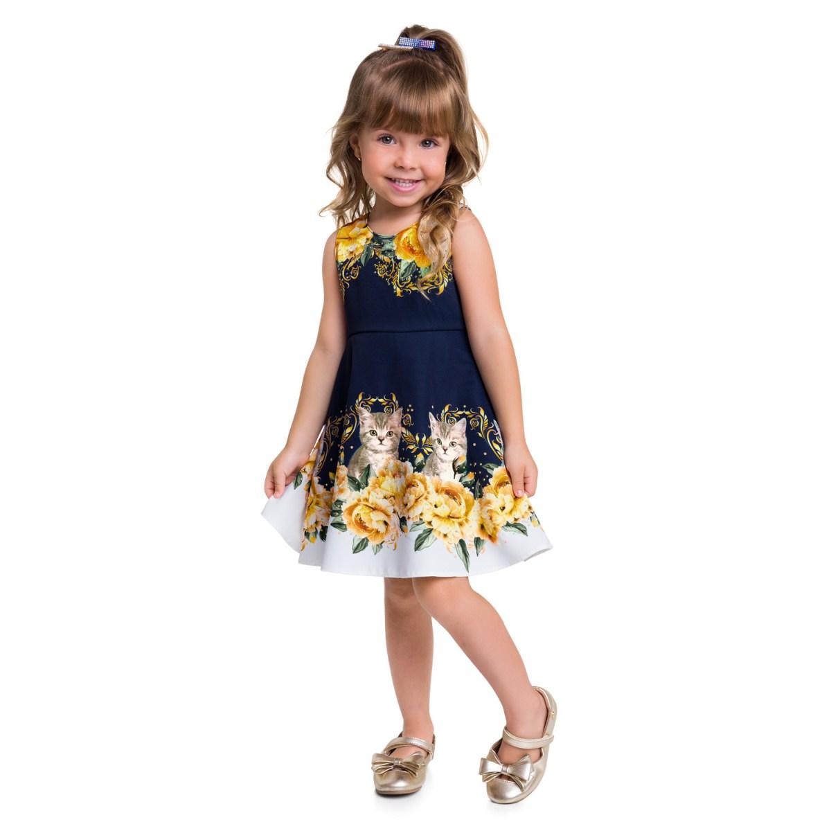 Vestido Infantil Milon em Alfaiataria com elastano
