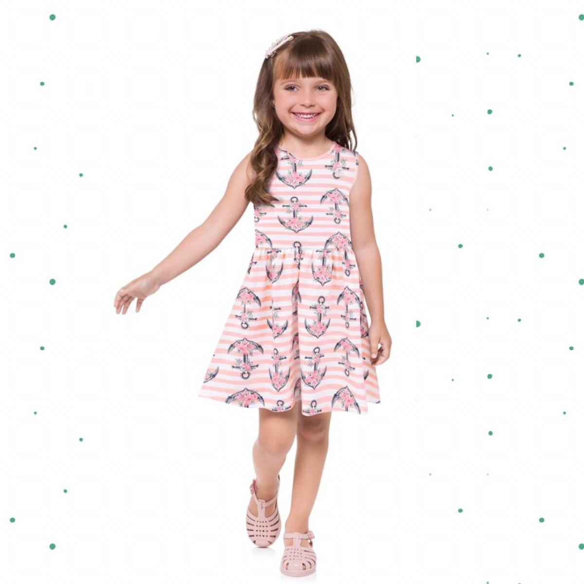 Vestido Infantil Milon em Coton 4 Estampado