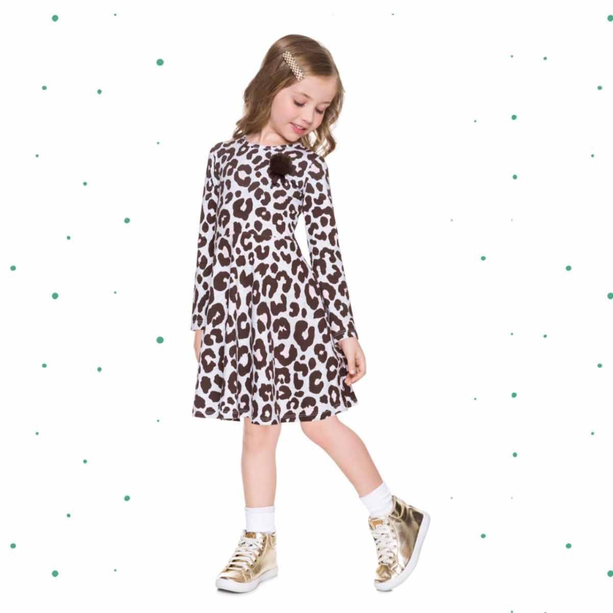 Vestido Infantil Milon em Cotton