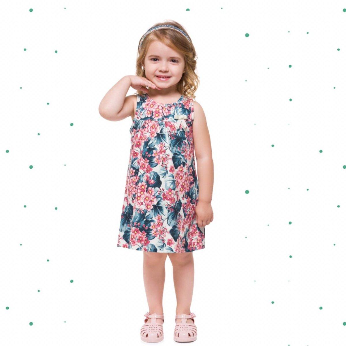 Vestido Infantil Milon em Cotton 4 Estampado