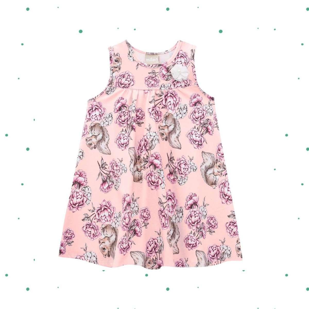 Vestido Infantil Milon em Cotton cor Rosa