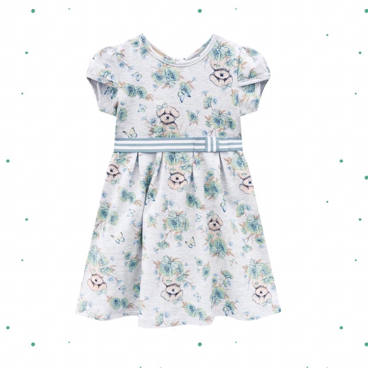Vestido Infantil Milon em Cotton Mescla White