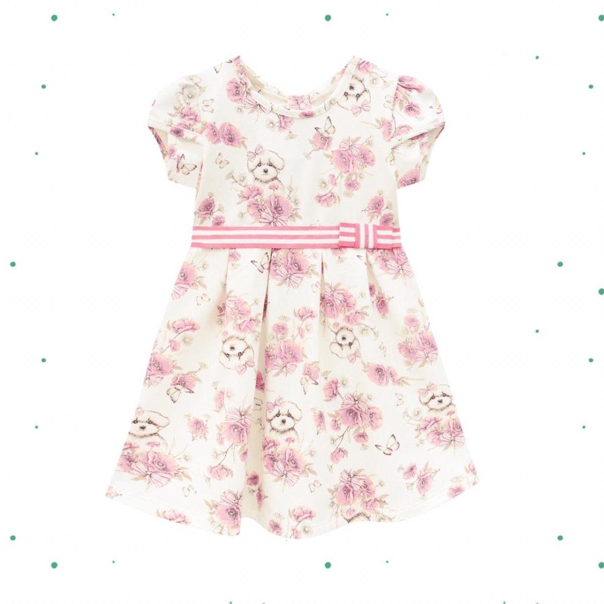Vestido Infantil Milon em Cotton Off White