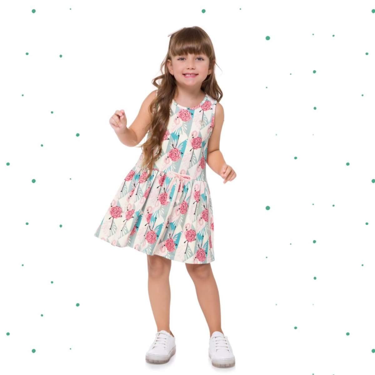 Vestido Infantil Milon em Moletinho Leve