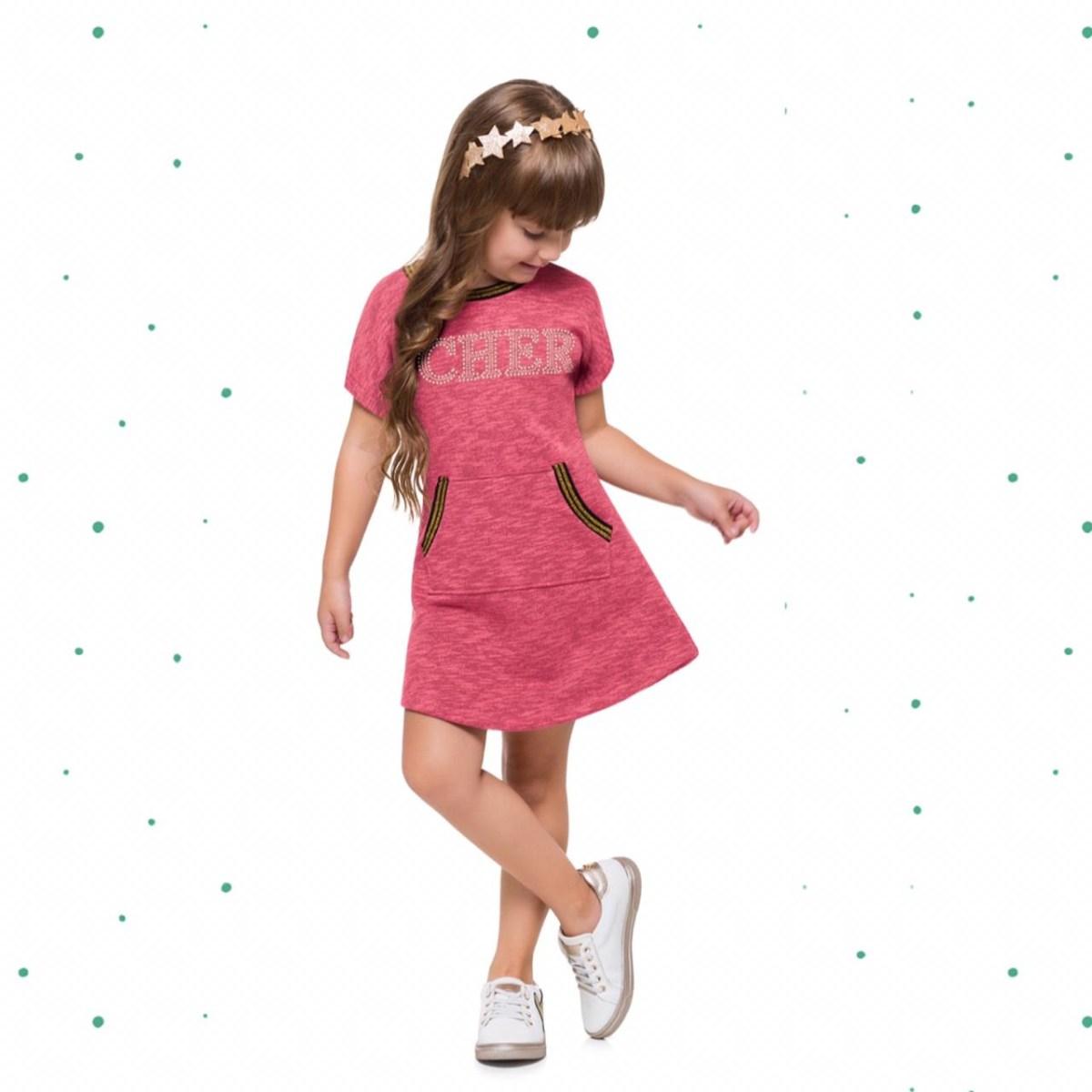 Vestido Infantil Milon em Moletom 3 Cabos Heavy