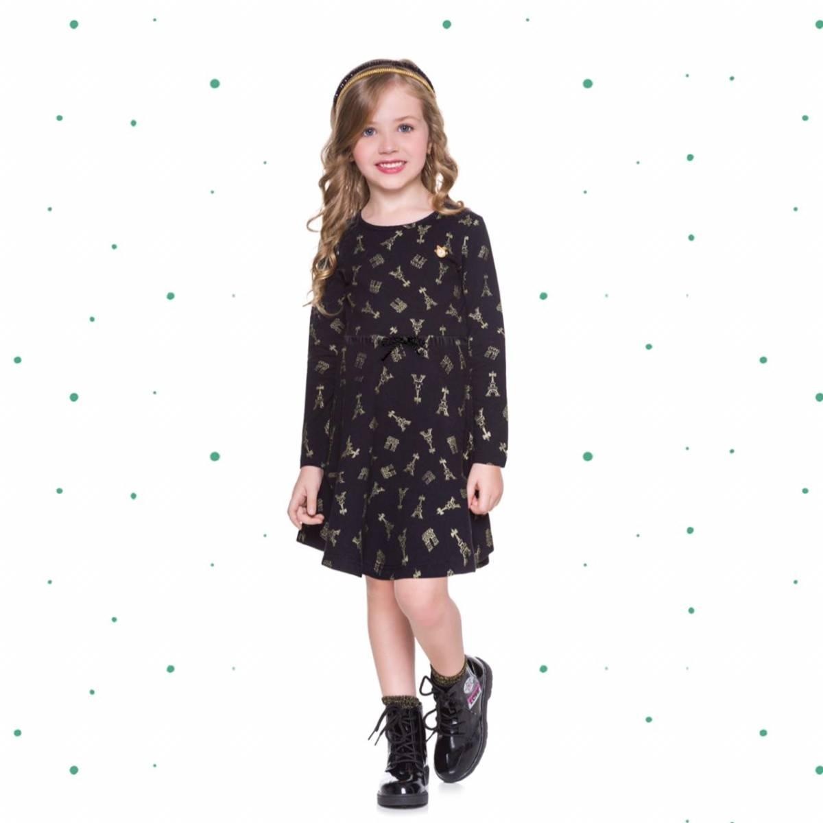 Vestido Infantil Milon em Molicotton Estampado