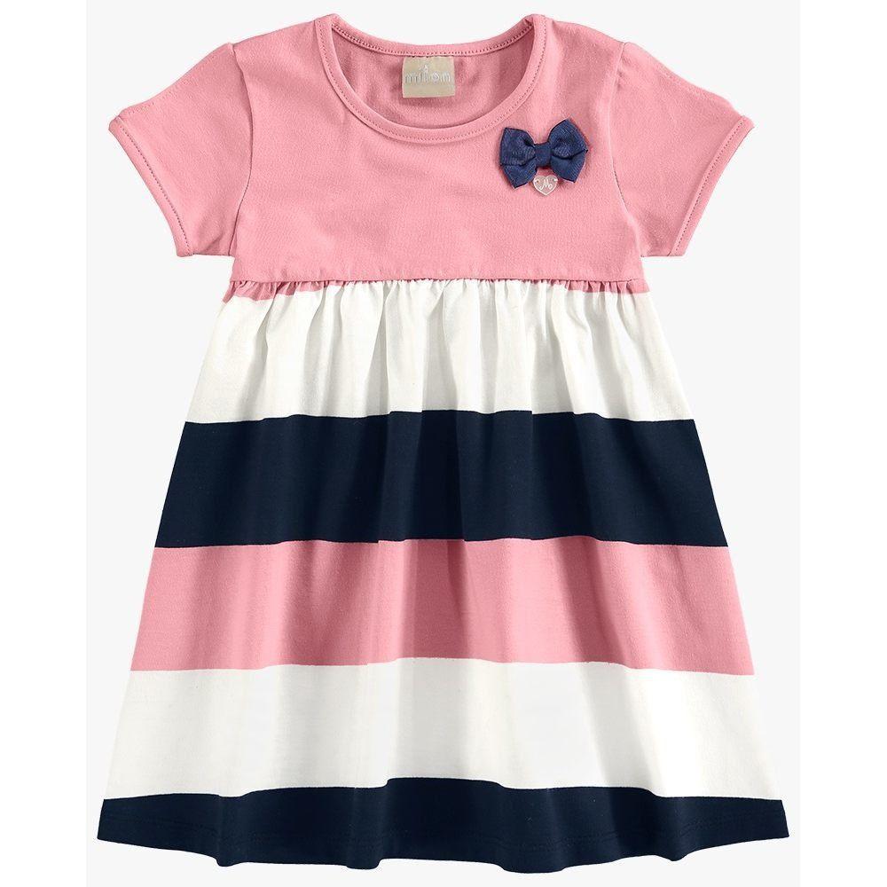 Vestido Infantil Milon Meia Malha e Cotton