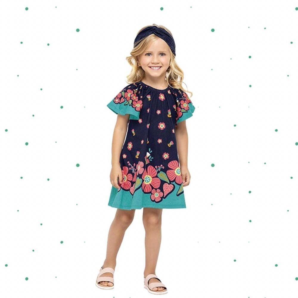 Vestido Infantil Nanai Curto em 100% Algodão